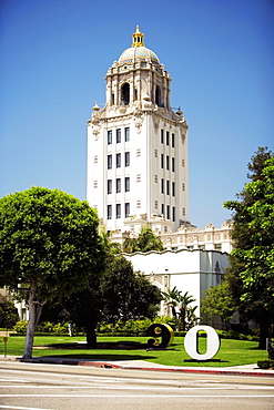 Facade of a building, Beverly Hills, Los Angeles, California, USA