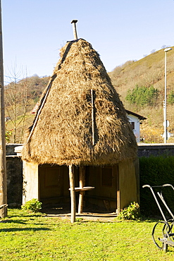 Facade of a thatched hut, Spain