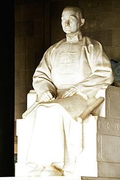 Close-up of a statue at a mausoleum, Sun Yat-Sen, Nanjing, Jiangsu Province, China