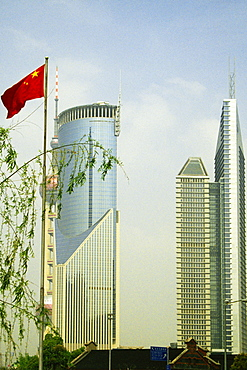 Skyscrapers in a city, Pudong, Shanghai, China