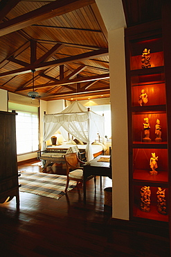 Interiors of a bedroom of a hotel, Chiang Mai, Thailand