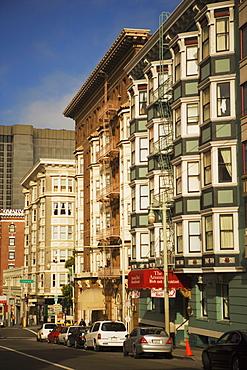 Low angle view of buildings, San Francisco, California, USA