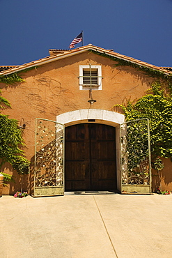 Facade of a winery, Napa Valley, California, USA
