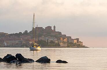 View to Portoferraio at dawn, Island of Elba, Italy