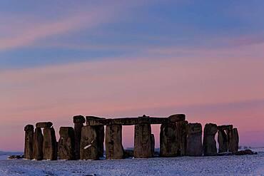 Winter at Stonehenge, Wiltshire, England, United Kingdom