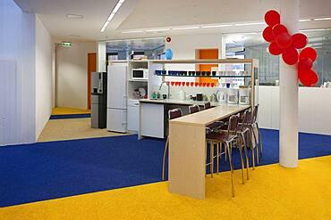 Modern college interior, refreshment station