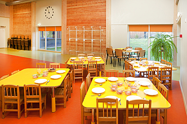 Modern day care nursery or pre-school kindergarten school, spacious interiors