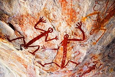 Aboriginal pictograph, Kakadu National Park, Arnhem Land, Australia, Kakadu National Park, Arnhem Land, Australia