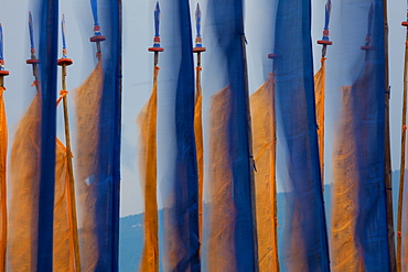 Prayer flags, Paro Valley, Bhutan, Paro Valley, Bhutan