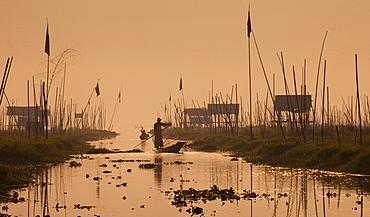 Fishermen on Inle Lake, Myanmar, Inle Lake, Myanmar