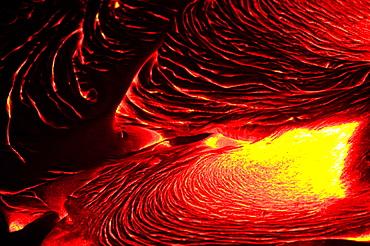 Detail of flowing lava, Hawaii Volcanoes National Park, Hawaii, USA, Hawaii Volcanoes National Park, Hawaii, USA