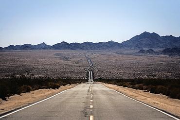 A highway across the desert, Desert Highway, California, USA
