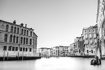 View of canal lined with historic houses, Venice, Italy, Venice, Italy