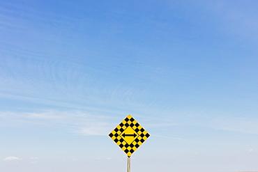 Arrow intersection sign, Saskatchewan, Canada