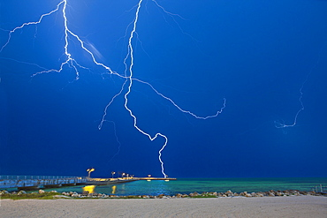 Lightning at the Beach, Key West, Florida, United States of America