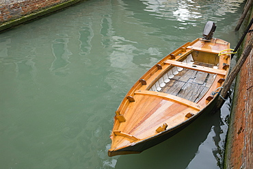 Boat on Canal, Venice, Italy