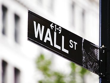 Wall Street Sign, Manhattan, New York, United States of America