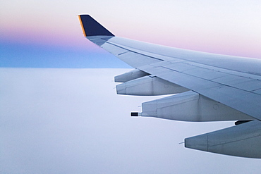 Wing and Engines of Jet in Flight, United States of America