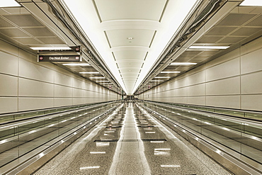 Empty airport walkway, Arlington, Virginia, United States of America