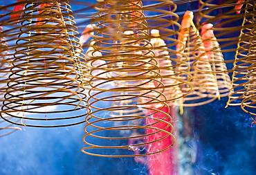 Hanging Incense Coils in Smoke, Saigon, Ho Chi Minh City, Vietnam