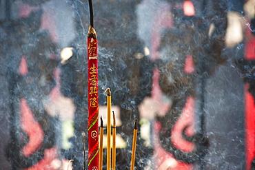 Incense Burning in the Thien Hau Temple, Vietnam