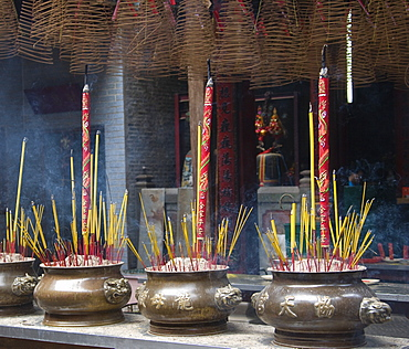 Incense burning in the Thien Hau Temple, Ho Chi Minh City, Vietnam