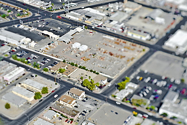 Aerial View of Commercial Area, Las Vegas, Nevada, United States of America
