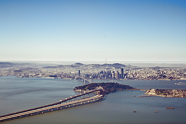 Aerial View of San Francisco Bay, San Francisco, California, United States of America
