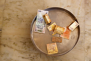 Indian Money in a Dish, Jaipur, Rajasthan, India