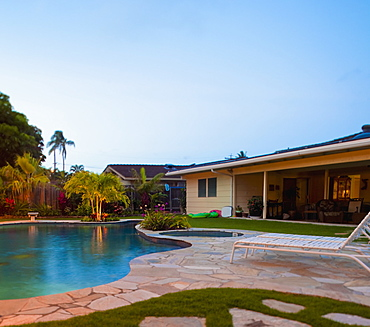 Luxury Backyard Pool and Lanai, Hawaii, United States of America