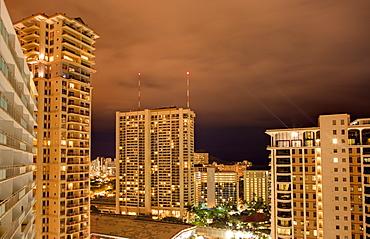 Honolulu Skyline at Night, Honolulu, HI, United States of America