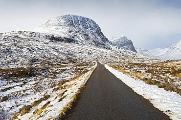 Road to Applecross in winter, Ross-shire, Scotland, UK