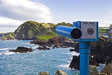 Telescope at View Point, Devon, England, UK, Europe