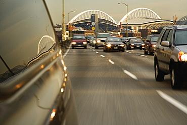 Vehicle on Highway, Seattle, Washington, United States of America