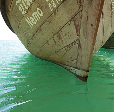 Boat Anchored in Water, Phra Nang Beach, Thailand