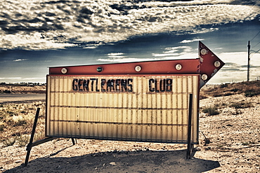 Gentlemen's Club Sign, Farmington, New Mexico, United States of America