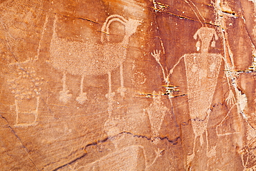 Native American Petroglyphs, Dinosaur, Colorado, United States of America