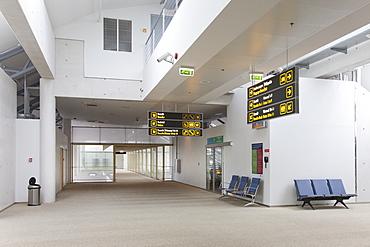 Empty airport terminal, Estonia