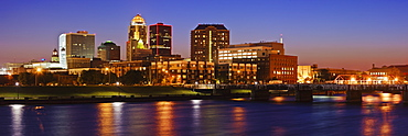 Des Moines Skyline, Des Moines, Iowa, United States of America