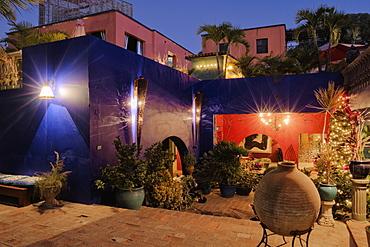 Hotel California Patio, Todos Santos, Baja California, Mexico