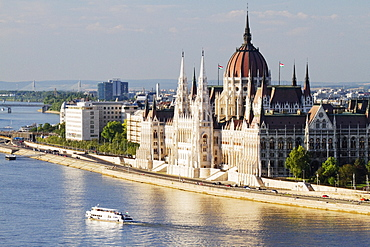 Parliament Building on the Danube, Budapest, Hungary