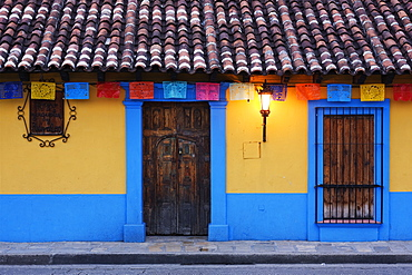 Colorful Colonial Architecture, Chiapas, Mexico