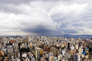 Rain Shower Approaching Downtown Sao Paulo, Sao Paulo, Brazil