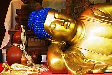 Reclining Buddha Statue, Honshu island, Japan, Asia