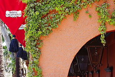 Cropped Exterior of the Hotel California, Todos Santos, Baja California, Mexico