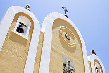 Exterior Facade of a Mexican Church, Todos Santos, Baja California, Mexico