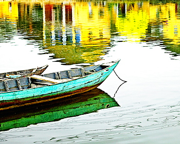 Small Wooden Boats on the Water, Hoi An, Quang Nam, Vietnam