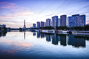 Eiffel Tower and Seine River, Paris, France, Paris, France