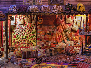 Colorful textile for sale in market