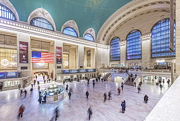 Blurred view of people in Grand Central station, New York City, New York, United States